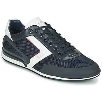 Shoes Men Low top trainers BOSS Saturn_Lowp_me 10230782 Blue