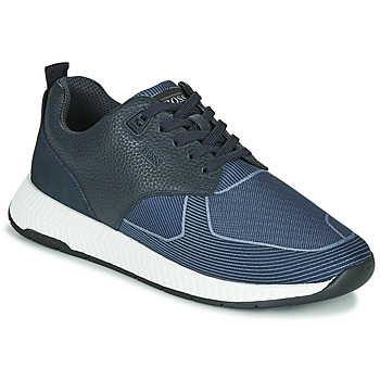 Shoes Men Low top trainers BOSS Titanium_Runn_tbjq 10232903 Blue