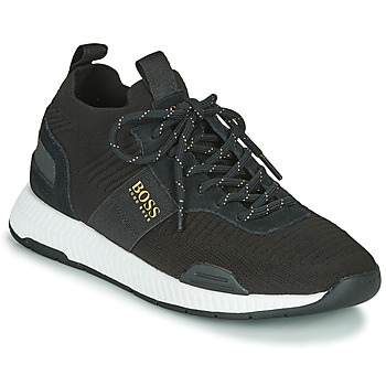 Shoes Men Low top trainers BOSS TITANIUM RUNN KNST1 Black