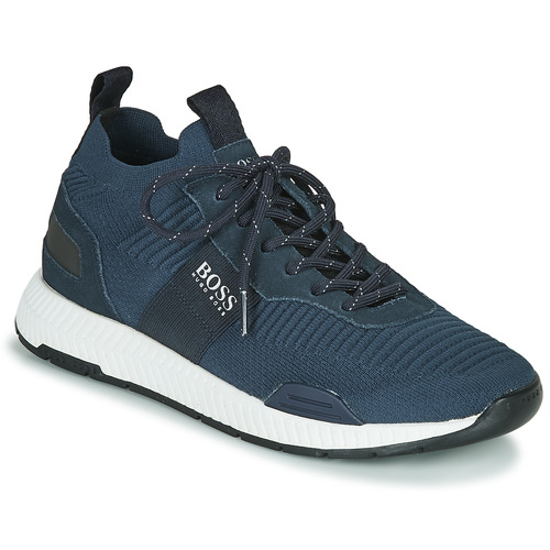 Shoes Men Low top trainers BOSS TITANIUM RUNN KNST3 Marine