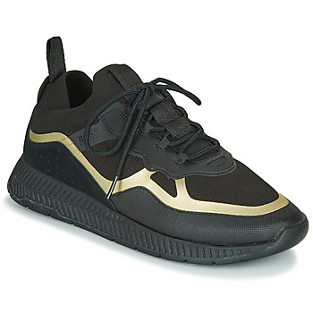 Shoes Men Low top trainers BOSS TITANIUM RUNN KNTH Black / Gold