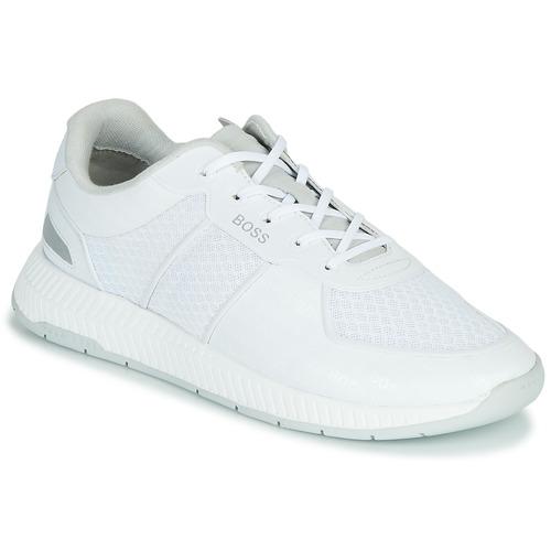 Shoes Men Low top trainers BOSS TITANIUM RUNN MEMLLG White