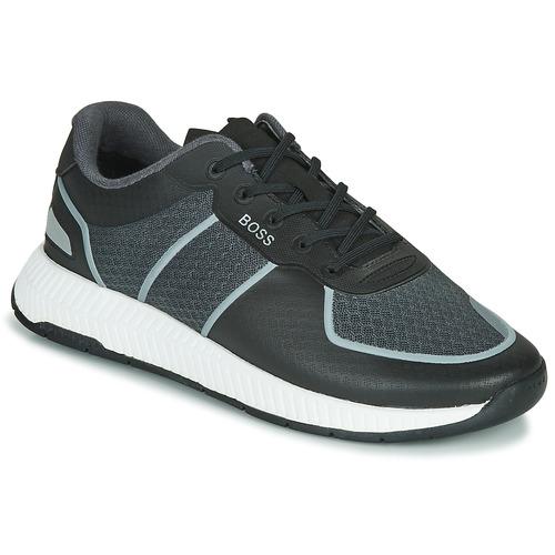 Shoes Men Low top trainers BOSS TITANIUM RUNN MEML Grey