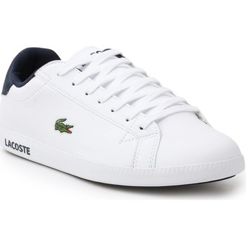 Shoes Men Low top trainers Lacoste Graduate LCR3 BRZ 7-33SPM0299X96 white, navy