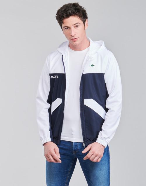 Clothing Men Jackets Lacoste SHANNA Marine / White