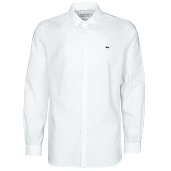 Clothing Men Long-sleeved shirts Lacoste PITTA White