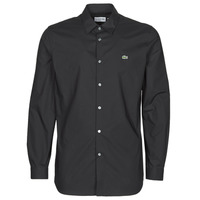 Clothing Men Long-sleeved shirts Lacoste PITTA Black