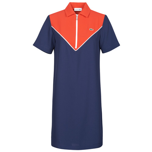 Clothing Women Short Dresses Lacoste FRITTI Red / Blue