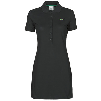 Clothing Women Short Dresses Lacoste LOFFI Black