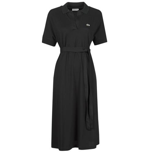 Clothing Women Long Dresses Lacoste KONNI Black