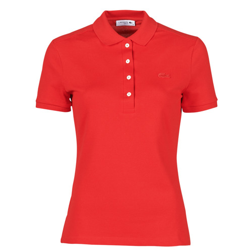 Clothing Women Short-sleeved polo shirts Lacoste POLO SLIM FIT Red