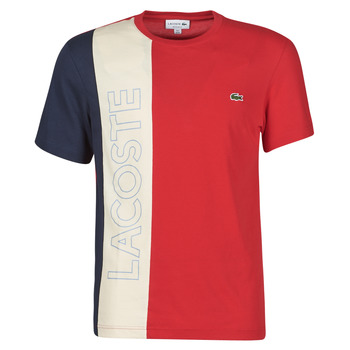 Clothing Men Short-sleeved t-shirts Lacoste SUZZA Marine / Beige / Red