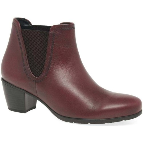 Shoes Women Mid boots Gabor Ecological Womens Ankle Boots red