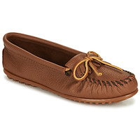 Shoes Women Loafers Minnetonka DEERSKIN KILTY Beige