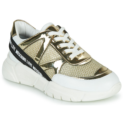 Shoes Women Low top trainers Love Moschino JA15323G1C Gold