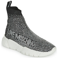 Shoes Women Hi top trainers Love Moschino BASKA Black / Silver
