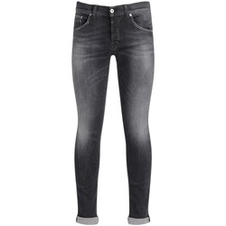 Clothing Men Slim jeans Dondup Ritchie gray jeans in washed cotton Black