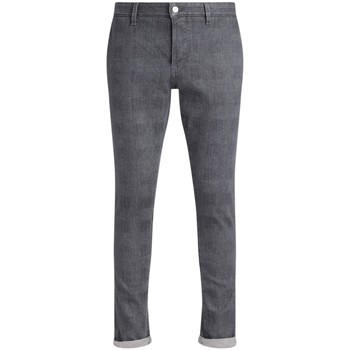 Clothing Men Chinos Dondup Chester trousers in cotton with gray tone-on-tone checked Grey