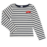 Clothing Girl Long sleeved tee-shirts Petit Bateau MAHALIA Multicolour
