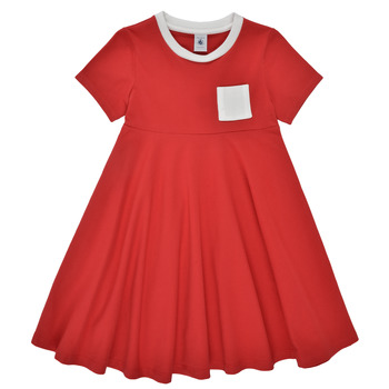 Clothing Girl Short Dresses Petit Bateau MALL Red