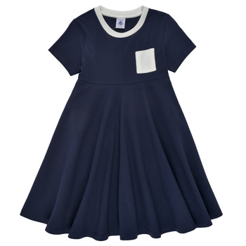 Clothing Girl Short Dresses Petit Bateau MALL Marine