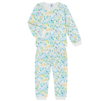Clothing Girl Sleepsuits Petit Bateau MARMOTTE Multicolour