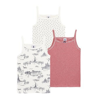 Clothing Girl Tops / Sleeveless T-shirts Petit Bateau HOURA Multicolour