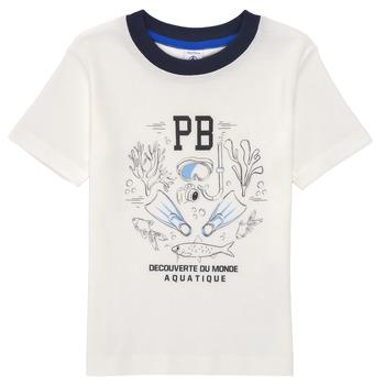 Clothing Boy Short-sleeved t-shirts Petit Bateau MARCO White