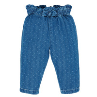 Clothing Girl 5-pocket trousers Petit Bateau MAUREEN Blue