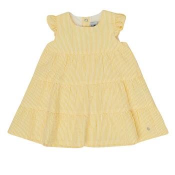 Clothing Girl Short Dresses Petit Bateau MERINGUE Yellow