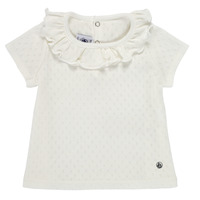 Clothing Girl Short-sleeved t-shirts Petit Bateau MELISSA White