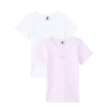 Clothing Girl Short-sleeved t-shirts Petit Bateau A00O5-00 Multicolour