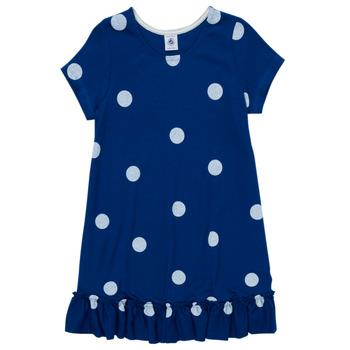 Clothing Girl Short Dresses Petit Bateau MALICETTE Marine