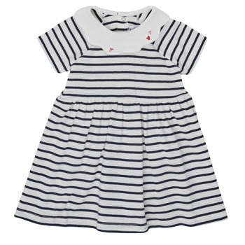 Clothing Girl Short Dresses Petit Bateau MEGHANE Multicolour