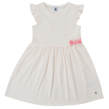 Clothing Girl Short Dresses Petit Bateau MERYEL Pink