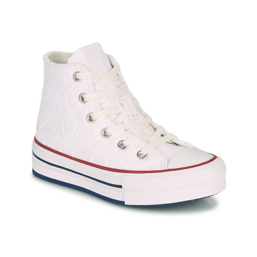 Shoes Girl Hi top trainers Converse CHUCK TAYLOR ALL STAR LIFT LOVE CEREMONY HI White