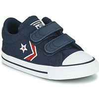 Shoes Boy Low top trainers Converse STAR PLAYER 2V TEXTILE DISTORT OX Blue / Red
