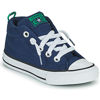 Shoes Boy Hi top trainers Converse CHUCK TAYLOR ALL STAR STREET CANVAS COLOR MID Blue