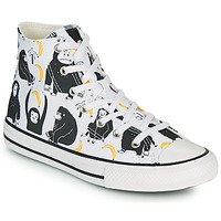 Shoes Children Hi top trainers Converse CHUCK TAYLOR ALL STAR GOING BANANAS HI White / Multicolour
