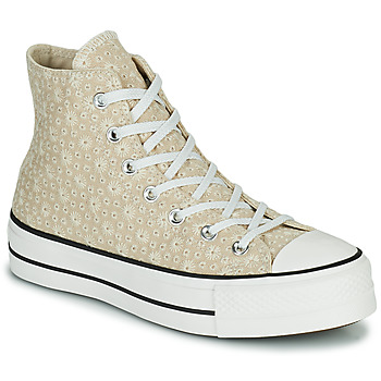 Shoes Women Hi top trainers Converse CHUCK TAYLOR ALL STAR LIFT CANVAS BRODERIE HI Beige