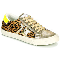 Shoes Women Low top trainers Kaporal MOUNA Gold / Leopard