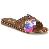 Shoes Women Mules Kaporal EMILI Brown / Multicolour