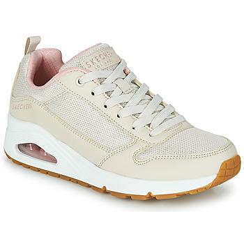 Shoes Women Low top trainers Skechers UNO INSIDE MATTERS Beige / Pink