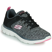 Shoes Women Fitness / Training Skechers FLEX APPEAL 4.0 Grey / Pink