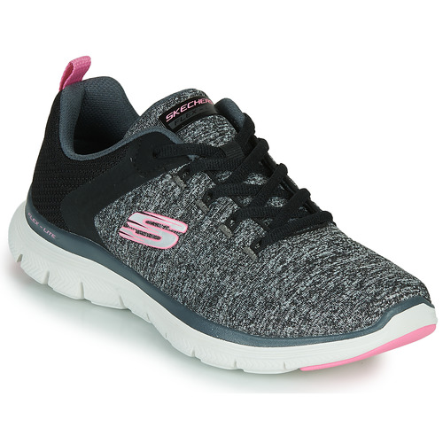 Shoes Women Fitness / Training Skechers FLEX APPEAL 4.0 Grey / Pink