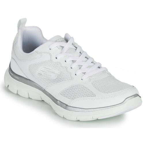 Shoes Women Fitness / Training Skechers FLEX APPEAL 4.0 White