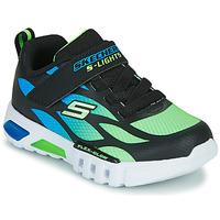 Shoes Boy Low top trainers Skechers FLEX-GLOW Black / Blue / Green