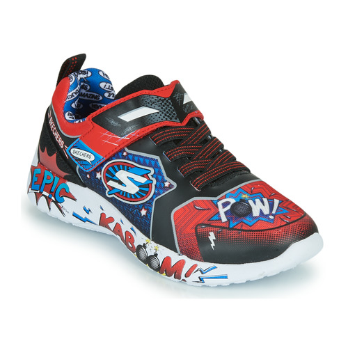 Shoes Boy Low top trainers Skechers DYNAMIGHT Red / Black