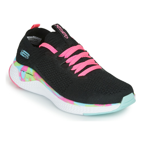 Shoes Girl Low top trainers Skechers SOLAR FUSE Black / Pink
