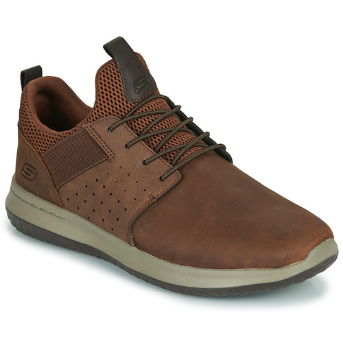 Shoes Men Low top trainers Skechers DELSON AXTON Brown